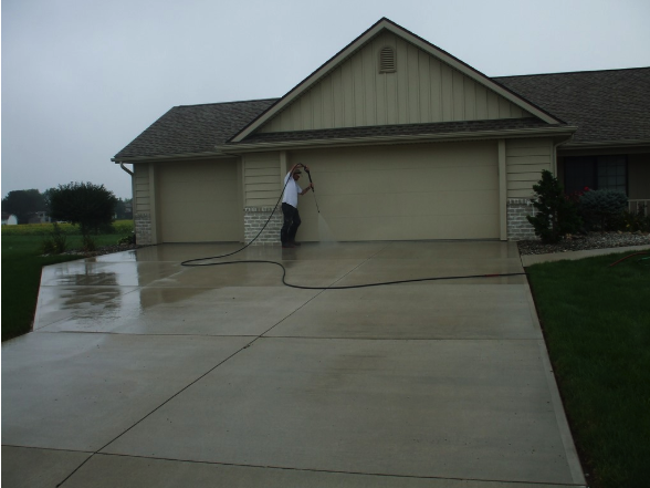 Cleaning the Driveway